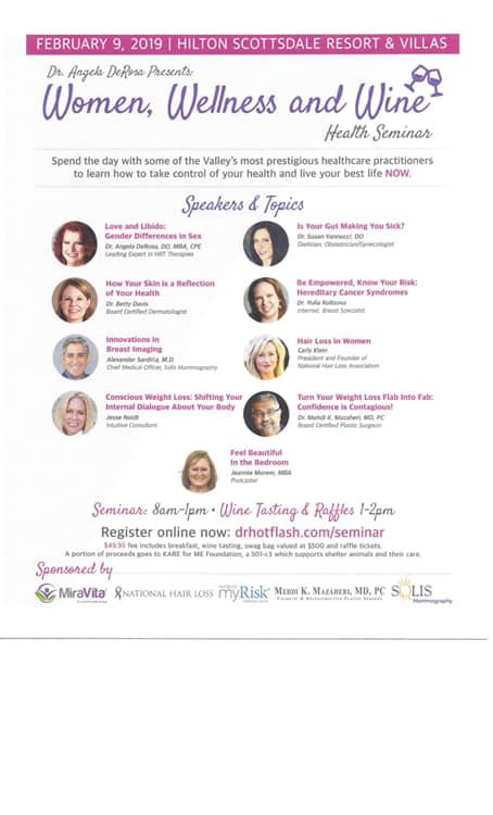 Women, Wellness and Wine - Dr. Angela DeRosa